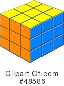 Royalty-Free (RF) Puzzle Cube Clipart Illustration #48586