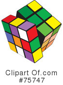 Royalty-Free (RF) Puzzle Cube Clipart Illustration #75747