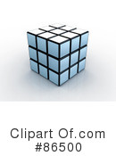 Royalty-Free (RF) Puzzle Cube Clipart Illustration #86500