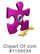 Royalty-Free (RF) puzzle piece Clipart Illustration #1109034
