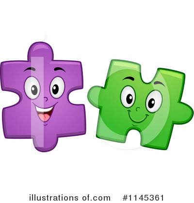 Puzzle Pieces Clipart #1145361 by BNP Design Studio