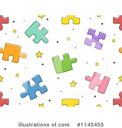 Puzzle Pieces Clipart #1145455 by BNP Design Studio