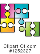 Royalty-Free (RF) Puzzle Piece Clipart Illustration #1252327