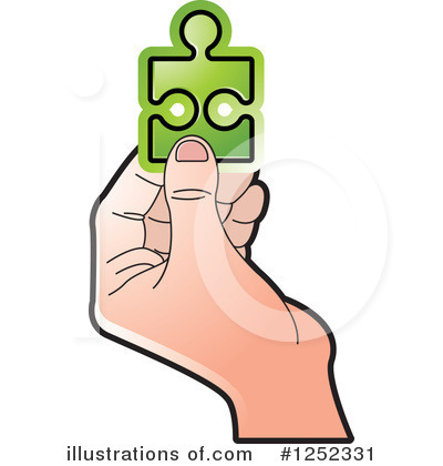 Puzzle Piece Clipart #1252331 by Lal Perera
