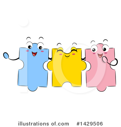 Puzzle Pieces Clipart #1429506 by BNP Design Studio