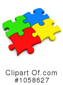Puzzle Pieces Clipart #1058627 by 3poD