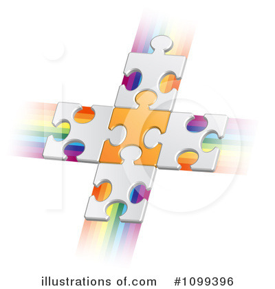 Puzzle Pieces Clipart #1099396 by merlinul