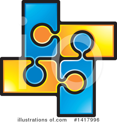 Puzzle Piece Clipart #1417996 by Lal Perera