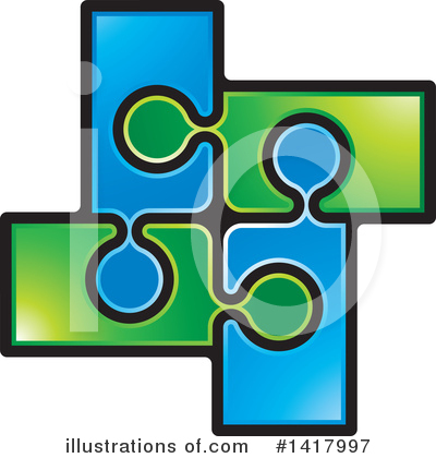 Puzzle Piece Clipart #1417997 by Lal Perera