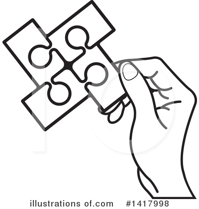 Puzzle Piece Clipart #1417998 by Lal Perera