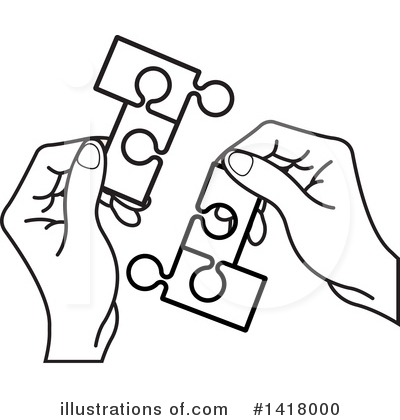 Puzzle Piece Clipart #1418000 by Lal Perera