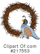 Royalty-Free (RF) Quail Clipart Illustration #217553