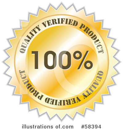Royalty-Free (RF) Quality Seal Clipart Illustration by MilsiArt - Stock Sample #58394