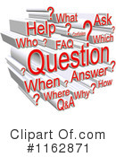 Royalty-Free (RF) Question Clipart Illustration #1162871