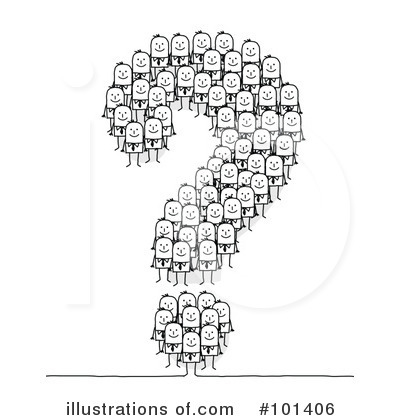 Royalty-Free (RF) Question Mark Clipart Illustration by NL shop - Stock Sample #101406