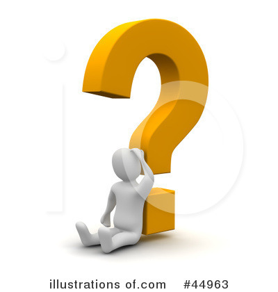 Royalty-Free (RF) Question Mark Clipart Illustration by Jiri Moucka - Stock Sample #44963