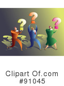 Royalty-Free (RF) Question Mark Clipart Illustration #91045