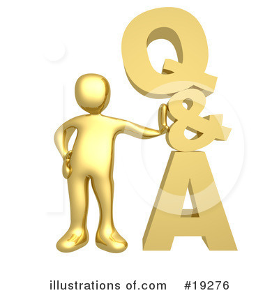 Royalty-Free (RF) Questions And Answers Clipart Illustration by 3poD - Stock Sample #19276