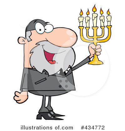 Menorah Clipart #434772 by Hit Toon