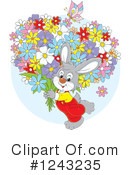 Royalty-Free (RF) Rabbit Clipart Illustration #1243235