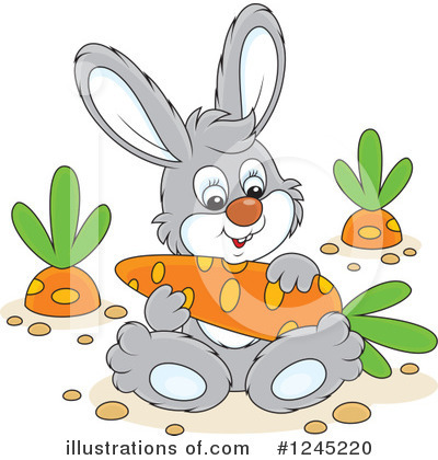 Rabbit Clipart #1245220 by Alex Bannykh