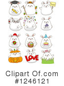 Rabbit Clipart #1246121 by BNP Design Studio