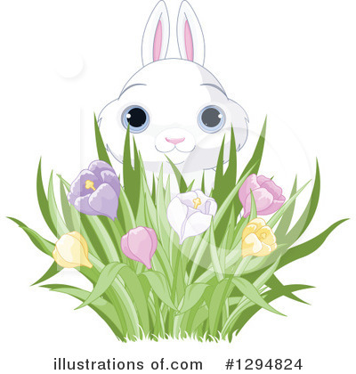 Royalty-Free (RF) Rabbit Clipart Illustration by Pushkin - Stock Sample #1294824