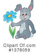 Royalty-Free (RF) Rabbit Clipart Illustration #1378059