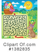 Royalty-Free (RF) Rabbit Clipart Illustration #1382835