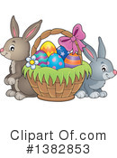 Royalty-Free (RF) Rabbit Clipart Illustration #1382853