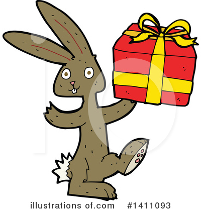 Royalty-Free (RF) Rabbit Clipart Illustration by lineartestpilot - Stock Sample #1411093