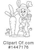 Royalty-Free (RF) Rabbit Clipart Illustration #1447176