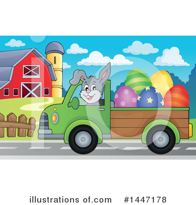 Easter Bunny Clipart #1447178 by visekart