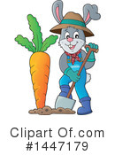 Royalty-Free (RF) Rabbit Clipart Illustration #1447179