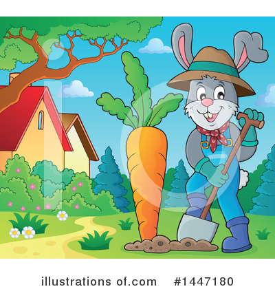 Royalty-Free (RF) Rabbit Clipart Illustration by visekart - Stock Sample #1447180