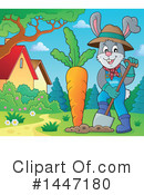 Royalty-Free (RF) Rabbit Clipart Illustration #1447180