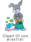Royalty-Free (RF) Rabbit Clipart Illustration #1447181