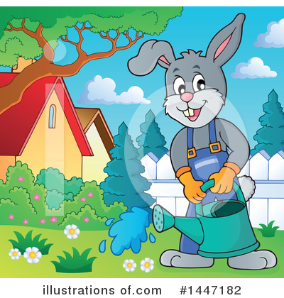 Royalty-Free (RF) Rabbit Clipart Illustration by visekart - Stock Sample #1447182
