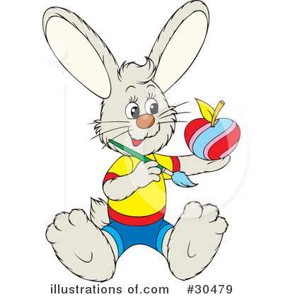 Royalty-Free (RF) Rabbit Clipart Illustration by Alex Bannykh - Stock Sample #30479