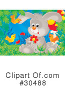 Royalty-Free (RF) Rabbit Clipart Illustration #30488