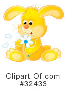 Royalty-Free (RF) rabbit Clipart Illustration #32433