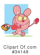 Royalty-Free (RF) Rabbit Clipart Illustration #34148