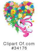 Royalty-Free (RF) Rabbit Clipart Illustration #34176