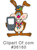Rabbit Clipart #36160 by Dennis Holmes Designs