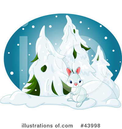 Royalty-Free (RF) Rabbit Clipart Illustration by Pushkin - Stock Sample #43998