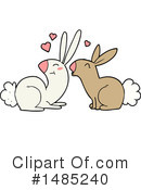 Rabbits Clipart #1485240 by lineartestpilot