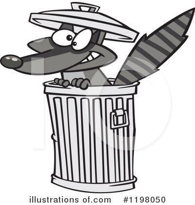 Trash Can Clipart #1198050 by toonaday