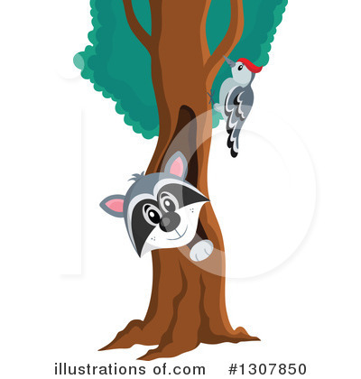 Forest Animals Clipart #1307850 by visekart