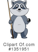 Raccoon Clipart #1351951 by Vector Tradition SM