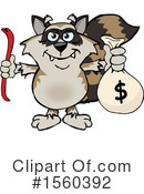 Raccoon Clipart #1560392 by Dennis Holmes Designs